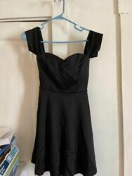 DEB Little BLACK Short Cocktail Party Dress Small 29quot; shoulder to hem New w Tag $20.00