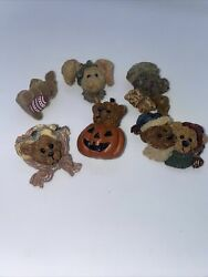 4 Bear Pin CERAMIC Country Gift Teddy Brooch Colorful Plus 2 Bunny $9.99
