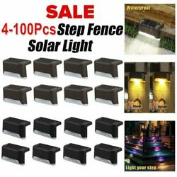 Outdoor Solar LED Deck Lights Garden Path Patio Pathway Stairs Step Fence Lamp $19.69
