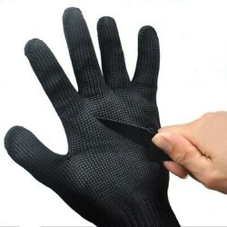Black Gloves Safety Soft Stainless Steel Wire Washable Durable Flexible C $15.93