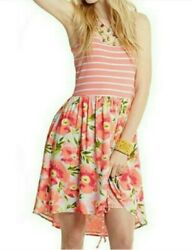 Matilda Jane L Coral Stripe Floral Dress $24.95