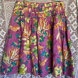 Spring Time Purple Pink Floral A Line Gathered Midi Skirt Women's Size 10 $16.00