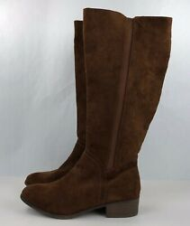 Womens Boots Knee High Riding Microsuede Brielle Universal Thread Brown Size 11 $18.00