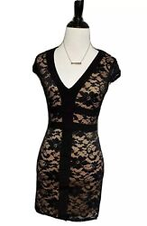 B Darlin Women#x27;s Black Cocktail Party Mini Sheer Lace Lined Dress 1 $14.00