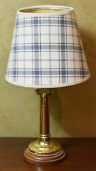 Baldwin Brass Candlestick Table Lamp w Shade 14quot; tall Williamsburg Style $79.00