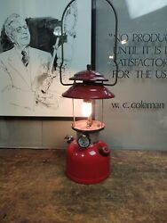 Coleman 1975 Lantern Red 200A Camping Dated 9 75 Tested Works no globe $99.99