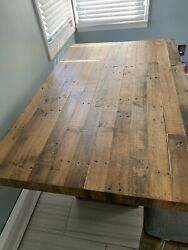 reclaimed wood dining table West Elm table only $650.00
