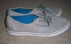 Womens Vans Off the Wall Canvas Shoes Gray amp; White Size 9 $10.00