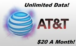 UNLIMITED DATA ATamp;T PLAN $20 MONTH $8.99