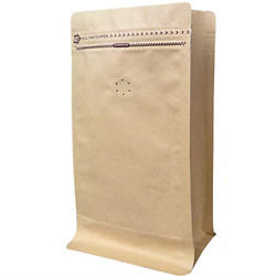 Coffee Bags 1 Lb Kraft Paper Stand up Pouches Bags with Valve 16oz 50 Pieces $27.00