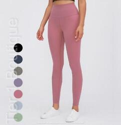 Womens High Waisted Leggings Yoga Pants Soft Seamless Workout Fitness Sports Gym $14.95