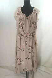 City Chic Womens Rose Play Off The Shoulder Floral Maxi Dress Plus Size CL 20 $25.00