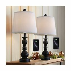Resin Table Lamp Sets of 2 for Bedroom Living Room Plug in Bedside Nightstand... $95.67