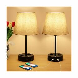 USB Bedside Table Lamp with Outlet 3 Way Touch Control Dimmable Bedroom Lamp... $54.47