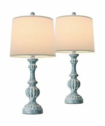 """Oneach Traditional Table Lamps for Living Room 24.5"""" Bedside Nightstand Lamp ... $100.66"""