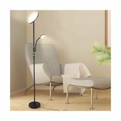 Albrillo Modern Floor Lamp 20W Sky LED Torchiere with Flexible 5W Reading L... $88.18