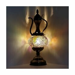 Marrakech Turkish Moroccan Mosaic Table Lamp Tiffany Lantern Lamp Stained Gla... $63.21