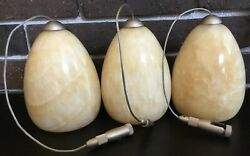 """3 Chandelier Replacement Globes Shades Marble Very Heavy 5 3 4"""" tall $69.99"""