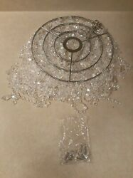 FlavorThings 3 Tier Fuax Crystal Acrylic Beaded Chandelier W10.5quot; H 11quot; $44.99