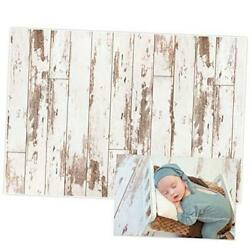 7x5FT White Wood Rustic Wooden Floor Backdrop for Newborn Photography 7#x27;×5#x27; $22.00