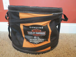Harley Davidson Genuine Motor Oil Round 16quot; Collapsible Insulated Cooler $24.48