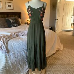 Time and Tru Women#x27;s embroidered floral maxi midi dress sz S $20.00