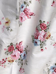 """Floral Shabby Chic roses 100% Cotton fabric .QuiltingPatchwork BTY 64"""" Wide $10.95"""