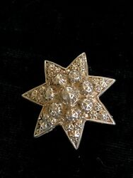 Antique Victoria Silver Repousse Star Brooch GBP 12.00