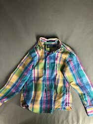 polo ralph lauren boys size 7 Plaid Shirt $14.95