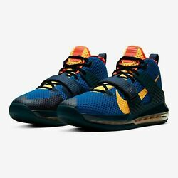 NEW Sz 12 Men#x27;s Nike Air Force Max II Basketball Midnight Navy Yellow CT1482 400 $149.99