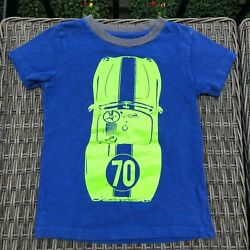 Crewcuts J Crew Boys Size 4 5 Racing Car Tee Shirt $5.99