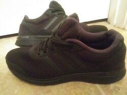 Mens Adidas Bounce Athletic Running Training Sneaker Shoes Size 8.5 Triple Black $14.50
