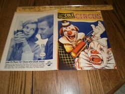 VINTAGE 1960#x27;S FAMOUS COLE 3 RING WILD ANIMAL CIRCUS PROGRAM amp; COLORING BOOK $5.99