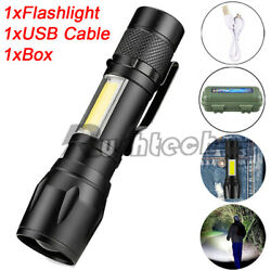 Super Bright LED Flashlight Mini USB Rechargeable Tactical Torch 3 Modes Light $8.85