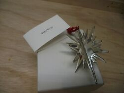 Vera Wang Silver Plated Star Christmas Ornament With Box $7.50