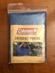 Coleman Emergency Poncho Covers Head And Torso One Size Fit All Blue $6.50