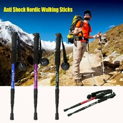 6 Colors Hiking Poles Walking Canes Nordic Walking Sticks Telescopic Trekking $17.67