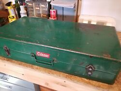 Rare 1950#x27;s VINTAGE COLEMAN CAMPING COMPACT PAK FOLDING TABLE ONLY $189.99
