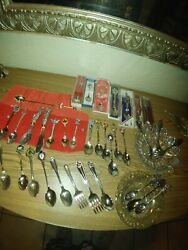 collection Of Souvenir Spoons From Around The World Vintage Antique With... $75.00