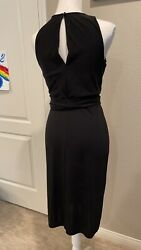 Lauren Ralph Lauren Black Dress Black Size Small Mid Lenght