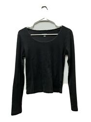 Wild Fable Black Women's Top Size M Pre Owned