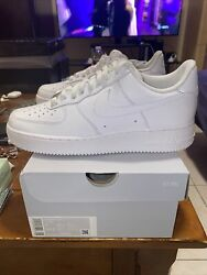 Nike Air Force 1 Low '07 Triple White Men#x27;s Size 9 CW2288 111