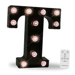 LED Wall Letters Lights Alphabet Diamond Bulbs Marquee Letters with Letter T $24.59