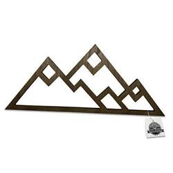 Mountain Wall Decor for Home or Office Rustic Home Decor in Walnut Stain $43.96