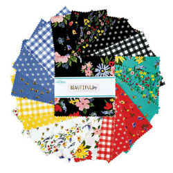 Charm Pack 5quot; Stacker 42pc Riley Blake Beautiful Day by Echo Park Paper Co $12.99
