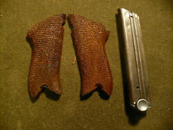 German Luger Grips and 9 Round Magazine $45.00