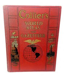 Collier#x27;s World Atlas and Gazetteer Huge c 1937 **Fast Shipping** $41.30