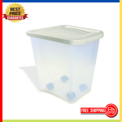 Large Dry Pet Food Storage Sealed Container Bin Dog Cat Supply BPA Free 25 Lbs $17.20