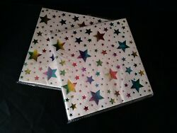 Lunch Paper Napkins Metallic Stars Party 14 Pk Lot of 2 NEW $8.99