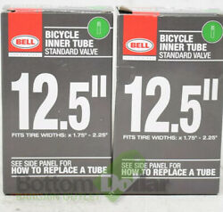 Bell Standard Valve 12.5quot;x 1.75 2.25quot; Bicycle Inner Tubes For Kids Bike 2 Pack $11.88